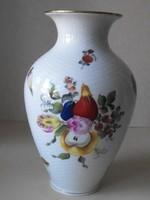 Herendi váza 23 cm, gyümölcsmintás