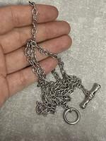 Gyönyörű  ezüst nyakék 60cm