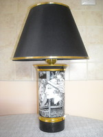 Szász Endre hollóházi porcelán lámpa (pillangós)