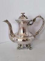 Ezüst antik 1866 teás kanna kiöntő