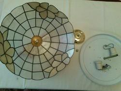 Mennyezeti lámpa Tiffany jellegű, akril nem üveg, 38 cm átmérőjü