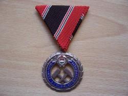 Bányász Szolgálati Érdemérem - ezüst