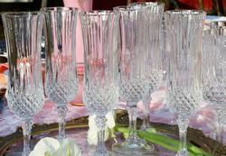 Francia  ólomkristály  pezsgős  poharak