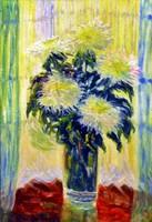 VIRÁGCSENDÉLET festmény, olaj vászon, 37 x 26 cm