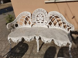 Alumínium kerti 3 személyes!pad,asztal,szék