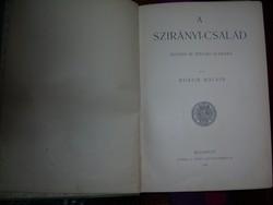 Art nouveau könyv Bokor Malvin A Szirányi család