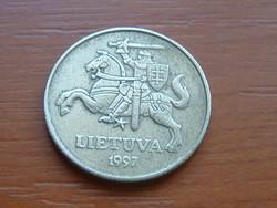 LITVÁNIA 50 CENTU 1997 A típus 60%-70% réz, 40%-30% cink #