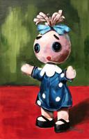 Böbe baba a Futrinka utcából - akrilfestmény