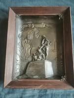 Bronz patinás dombormű Odesszai emlék falikép