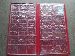 Érmeberakó album 2x18 db 25 mm-es + 2x8 db 45 mm-es fészekmérettel (id46782)