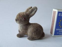 Nagyon aranyos, flokkolt mini húsvéti nyúl,nyuszi figura:húsvéti dísz, dekoráció