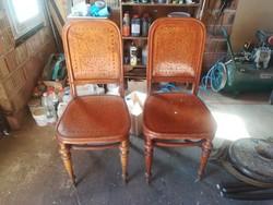Kuriózum! Nagyon Ritka Thonet székek párban! Felsőház CCa 1876.