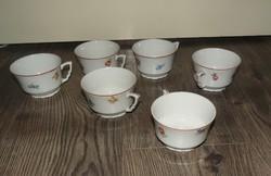 Ha eltörött hiányzó készlet pótlására 3 db Zsolnay+ 3 db más  virágos teás csésze