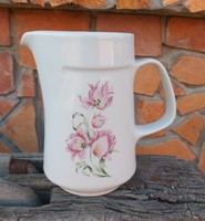 Gyönyörű Alföldi porcelán virágos tulipános kancsó, nosztalgia darab, Gyűjtői szépség