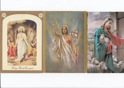 Vallási képeslap 3db
