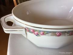 Fedeles tál,MZ Altrohlau CM-R porcelán levesestál, antik