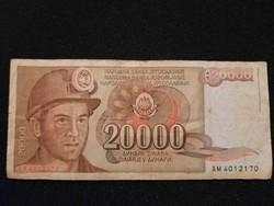 Jugoszláv 20000 Dínár 1987 !!!