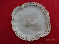 Aquincum porcelán asztalközép,áttört széllel,  mérete 17 x 16 x 2 cm.