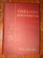 GRILL FÉLE DÖNTVÉNYTÁR XIII.KÖTET 1925