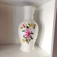 Nagyméretű Hollóházi virágmintás váza