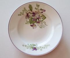 Régi ibolyás porcelán falitányér akasztható kis tányér 18 cm