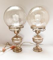 Díszes,olasz ezüst lámpa pár.