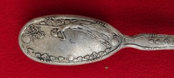 Ruhakefe, Szecessziós hölgy díszítés ezüstözött.Asztali seprű, ajàndéknak dekoráció hasznàlatra is