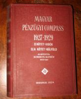 MAGYAR PÉNZÜGYI COMPASS 1927-1929 II.KÖTET: VIDÉK , KÜLFÖLD