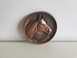 Ló lovas fém öntvény fali dísz