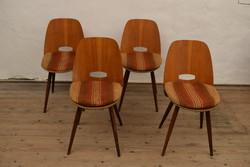 Retró Cseh Tátra székek / 4 db szék / 60-as évek designer / Mid Century