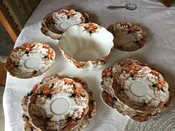 Melba angol porcelán tál és tányérok (200)