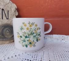 Alföldi porcelán házgyári virágos bögre Gyűjtői  nosztalgia darab