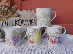 Alföldi porcelán ritka bögre Gyönyörű körte szilva szőlő  gyümölcsös  Gyűjtői  nosztalgia darab