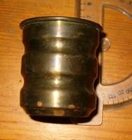 Aranyszínű csinos antik hatású művészi réz nek gondolom pohár 35 gramm KIÁRUSÍTÁS