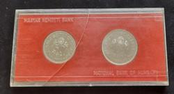 """""""Tanácsköztársaság"""" ezüst 50 + 100 Forint 1969 MNK. Tok sérült!"""