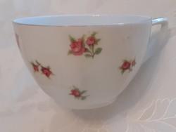 Régi vintage porcelán rózsás kávés csésze Victoria