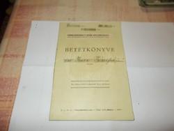 Betétkönyv 1943-ból Hódmezővásárhelyről