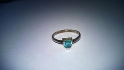 Szív formájú kő-ezüst  gyűrű 925-ös átm.18