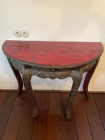 Indonesian needlework wood, decorative console table 100x49x75 cm high