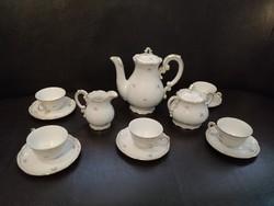 Antik Zsolnay kávéskészlet
