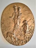Ritka bronz tábla, hajón felfüggesztett darab volt, mint védelmező