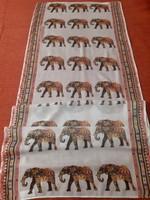 Elefánt mintás sál, kendő