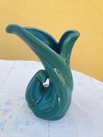 Zöld, gyönyörű, art deco Iparművész váza eladó!