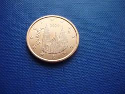 SPANYOLORSZÁG 5 EURO CENT 2020! UNC! RITKA!