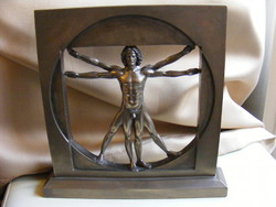 Vitruvius-tanulmány -  Leonardo da Vinci - Veronese szobor