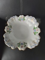 Alt Wien antik bécsi porcelán talpas tál hibátlan asztalközép 1845 biedermeier korszak