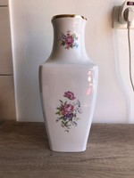 Hollóházi porcelán ritka hajnalka mintás váza 36 cm magas