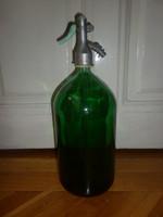 2 literes zöld szódásüveg
