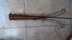 Szecessziós réz esernyőtartó, 70 cm-es magasságú ritkaság.