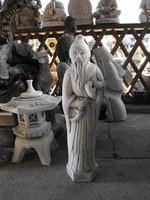 Buddhizmus Keleti  Kínai Bölcs vagy  szerzetes 1db Feng shui Japán kerti Fagyálló műkő szobor